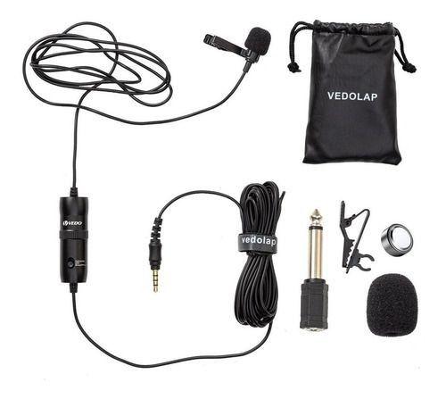Microfone Lapela Profissional Omnidirecional Cabo 6m e simples