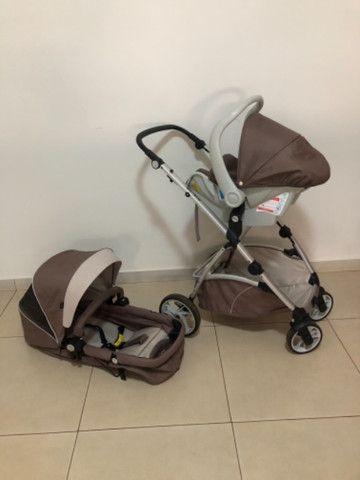 Carrinho + Moisés + bebê conforto Dzieco Maly  - Foto 3