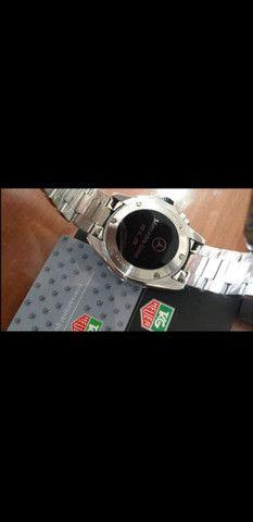 Relógio Tag Heuer Mercedes Benz SLS fundo preto a prova d'água - Foto 5