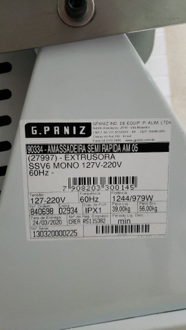 Amassadeira semi rápida extrosora G-Paniz Ame05/15 - Foto 5