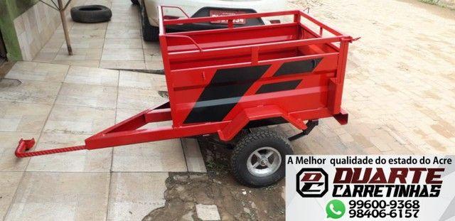 Carretinha, carrocinha para moto delivery vermelha