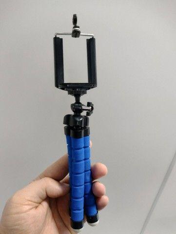 Mini Tripé Portátil Celular Suporte Flexível Regulagem Alt - Foto 5