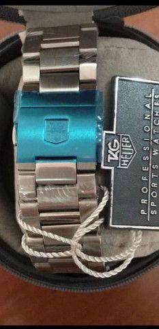 Relógio Tag Heuer Mercedes Benz SLS fundo preto a prova d'água - Foto 2