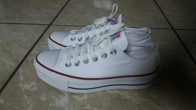 f5788ca64d1c9 All Star Bitmaps Couro Branco/Verde - Tam.37 - Roupas e calçados ...