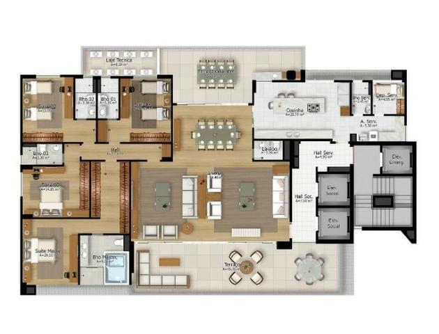 Ed. City Bay - Apto reformado, 302 m², 4 Suítes, 4 Vagas, no Umarizal - Foto 8