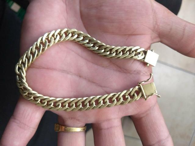 Corrente + pulseira grume feita de moeda antiga com garantia eterna
