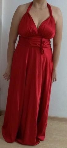 Vestido de Festa Longo Vermelho 44/46 - Foto 4