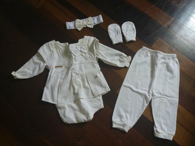 Bebê conforto + saída de maternidade + tocas - Foto 4