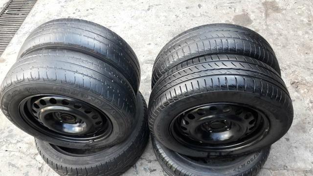 Rodas e pneus original GM 4 furos.baratoo - Foto 4