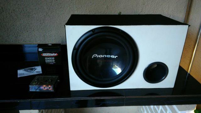 Caixa de som Pioneer com Módulo SD Digital 600.1 RMS - Foto 6