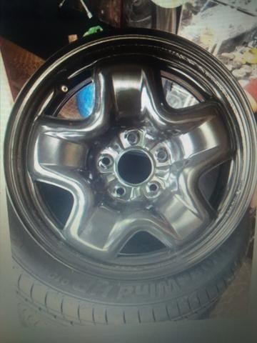 Kit estepe pneu bridgestone + roda ferro original Fiat toro