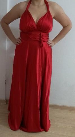 Vestido de Festa Longo Vermelho 44/46 - Foto 3