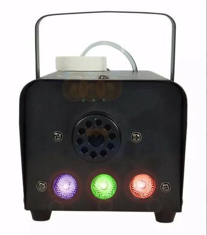 Maquina De Fumaça 600w 110v Com Strobo Rgb Controle Com Fio - Foto 2