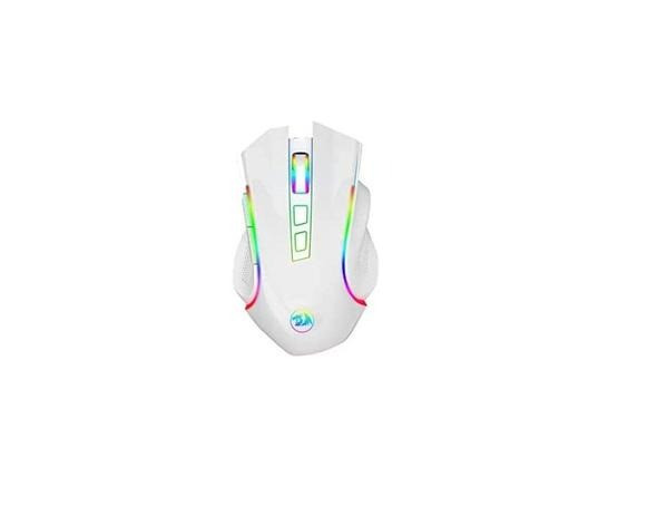 Mouse Gamer Redragon Griffin RGB 7200DPI Branco/Lunar - Foto 4