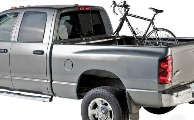 Suporte de Bicicleta Thule Usado para Caçamba (822 XT) + Adaptador Thule eixo 15mm(53015) - Foto 2