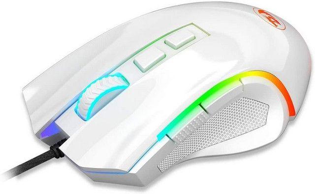 Mouse Gamer Redragon Griffin RGB 7200DPI Branco/Lunar - Foto 2