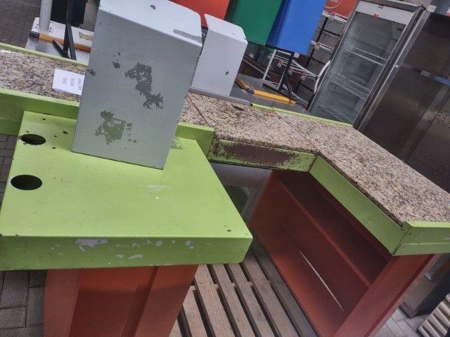 """Checkout Verde/Laranja com Granito 1,90X1,00X0,85A - Usada """"No Estado"""" - Foto 2"""