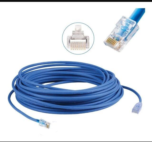 Cabo De Rede Azul Internet 20m Lan Rj45 Mbtech Mb71153 - Foto 2