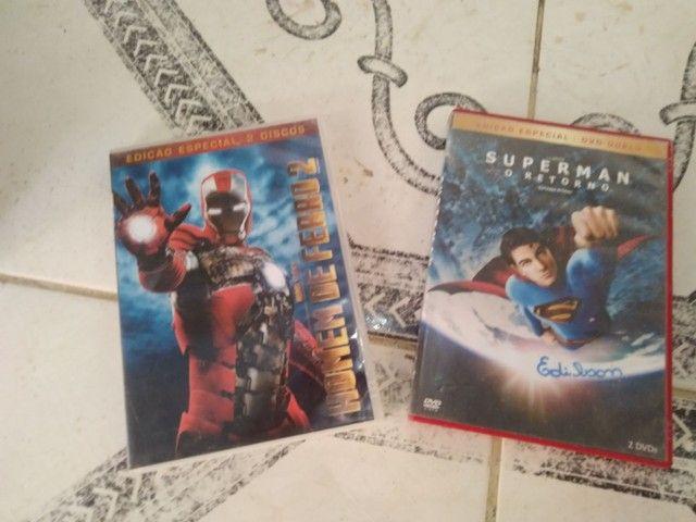 DVD's Homem de Ferro 2 e Superman - O Retorno