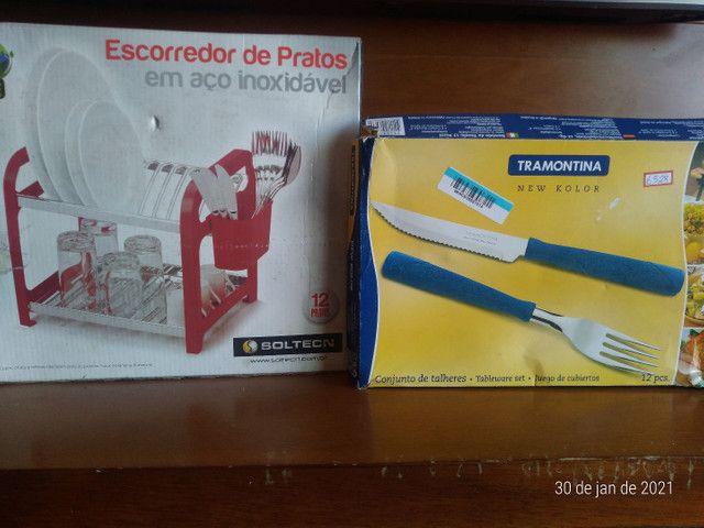 Escorredor de pratos + faqueiro