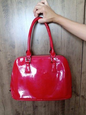 Bolsa vermelha em sintético - Foto 3