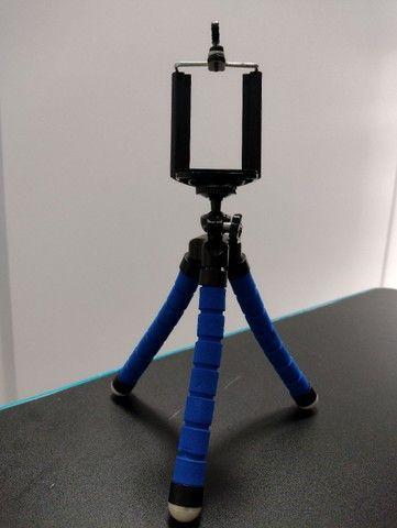 Mini Tripé Portátil Celular Suporte Flexível Regulagem Alt