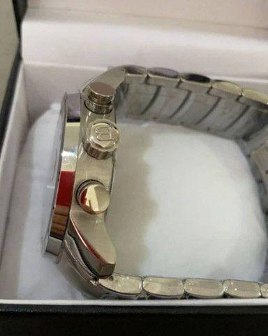 Relógio BVLGARI Iron Man Prateado automático a prova d'água - Foto 6
