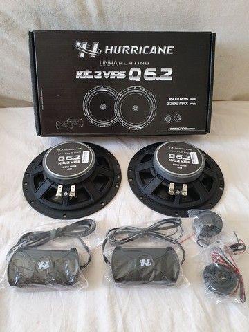 Alto falante kit duas vias Hurricane Platino 160w RMS, muito bom! - Foto 3