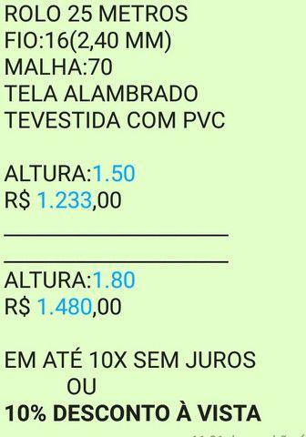 Telas Alambrado REVESTIDA COM PVC (ultimas unidades) - Foto 6