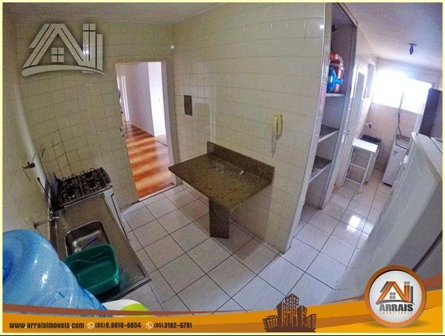 Apartamento com 3 dormitórios à venda, 96 m² por R$ 280.000,00 - Vila União - Fortaleza/CE - Foto 4