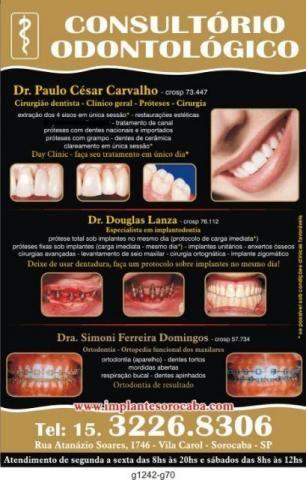 Cirurgiao dentistas implantes dentes dor estetica