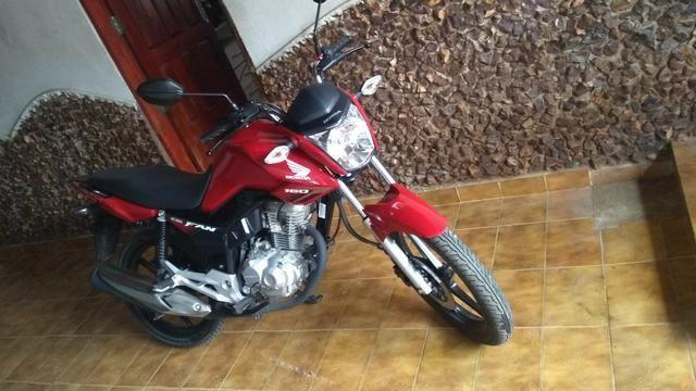 Honda fan 160 esdi 18/18 vermelha 180km rodados 3 dias de comprada