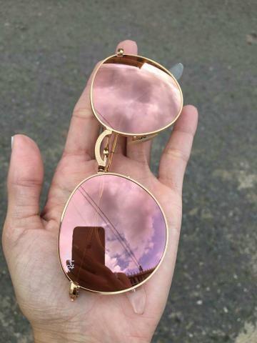 5e9683f8e9 Óculos de sol Ray Ban dobrável original, rosa - Bijouterias ...