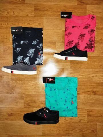 1d093e8e21d Tênis + Camiseta - 99 reais !! - Roupas e calçados - Campinas