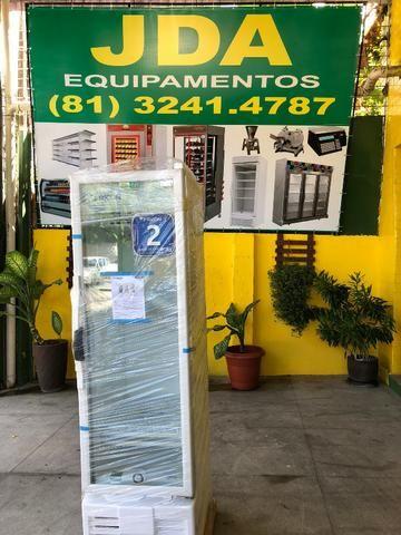 Refrigerador vertical 284 litros porta de vidro - ideal para bebidas - 2 anos de garantia - Foto 3