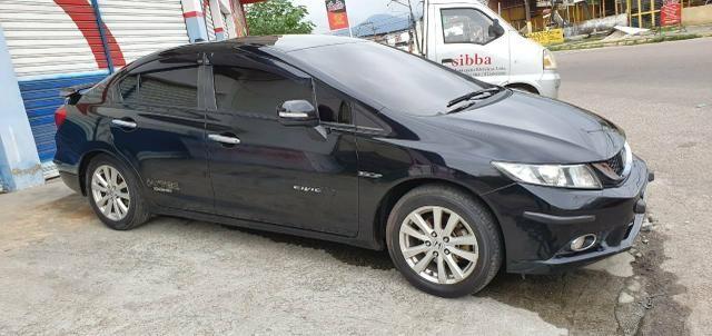 Honda Civic Sedan LXR 2.0 Flexone + GNV 5g 16V Aut. 4p - Preto - 2014 46.900 - Foto 6