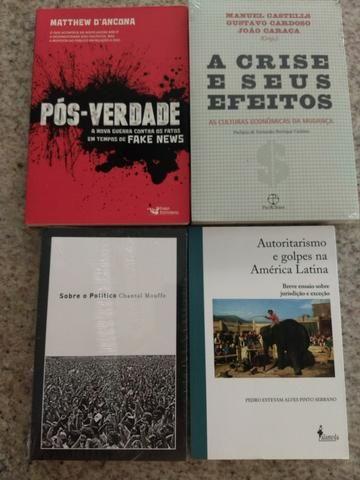 Livros novos sobre história e o momento atual