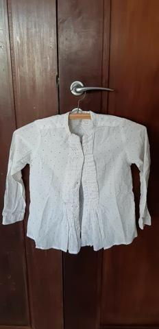 Bata da Zara, 7-8 anos, em algodão - R$ 30