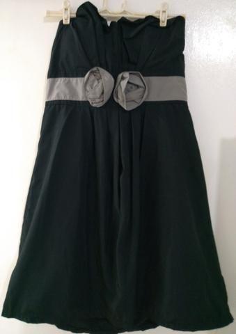 Vestido de festa Preto Curto Tomara-que-caia G