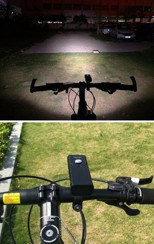 Lanterna Farol + Sinalizador traseiro USB prova d'água - Foto 6