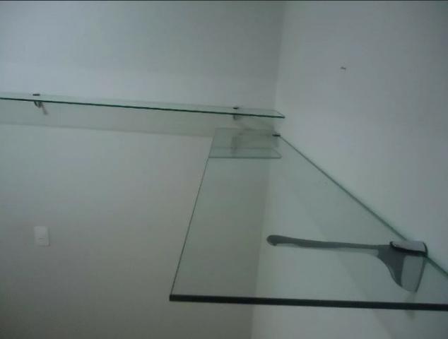 Estante De Vidro Temperado : Prateleira de vidro temperado cm equipamentos e