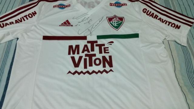 Camisa adidas Fluminense I Home 2014  9 Fred Autografada - Roupas e ... 891e7a155bb5e