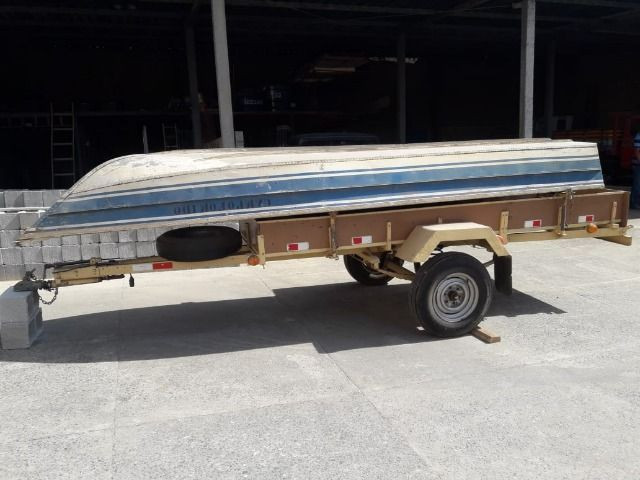 Barco de alumínio e reboque - Foto 6