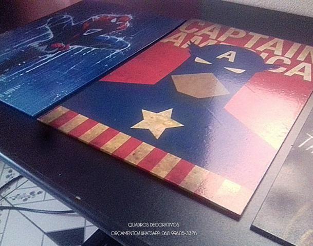 Só hoje! Trio da Marvel, Quadro decorativo R$50,00 - Foto 2