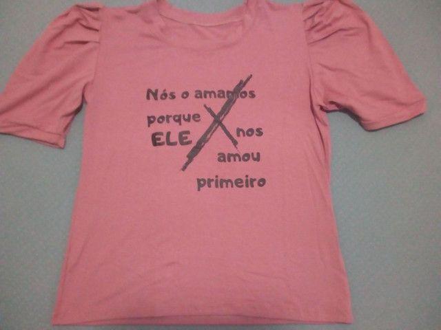 Camiseta rosê