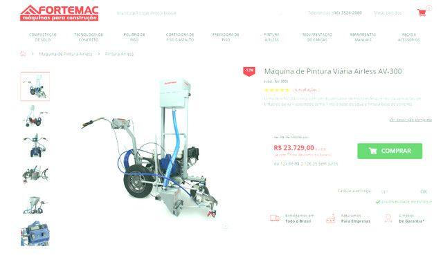 maquina de pintura de demarcação viaria airless formac - Foto 2
