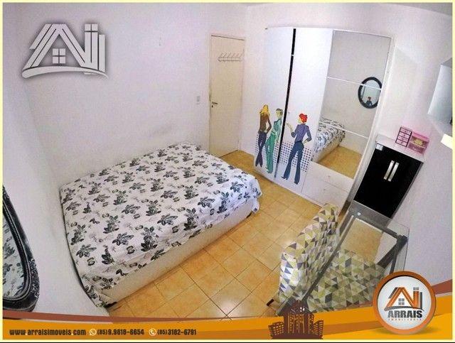 Apartamento com 3 dormitórios à venda, 96 m² por R$ 280.000,00 - Vila União - Fortaleza/CE - Foto 12