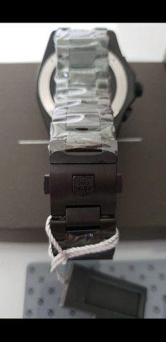 Relógio Tag Heuer Mercedes Benz SLS Black a prova d'água Completo - Foto 5