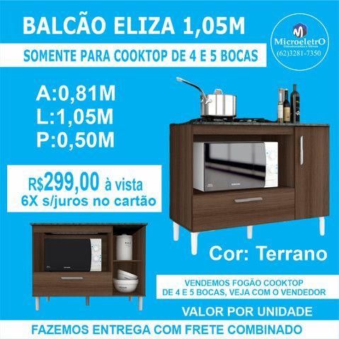 Balcão Eliza Terrano para***Colocar Fogão  cooktop de 4 ou 5 Bocas - Foto 3