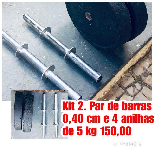 Kits de Barras e anilhas artesanal musculação  - Foto 2